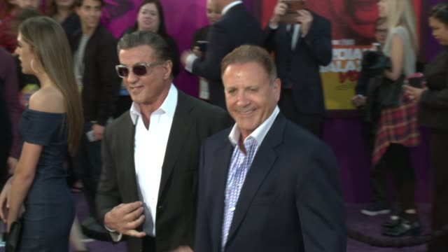 vídeos de stock, filmes e b-roll de sylvester stallone and frank stallone at the guardians of the galaxy vol 2 los angeles premiere at dolby theatre on april 19 2017 in hollywood... - sylvester stallone
