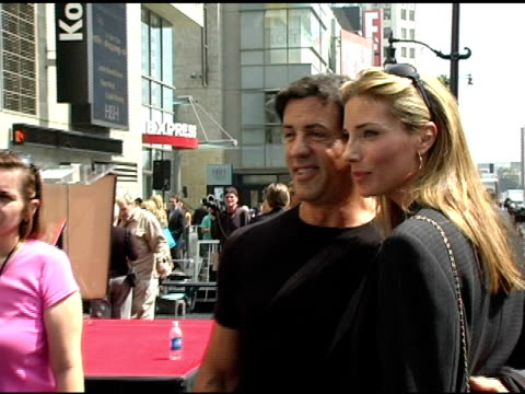 Sylvester Stallone and Jennifer Flavin at the Dedication of Mike Medavoy's Star on the Hollywood Walk of Fame at Hollywood Boulevard in Hollywood...