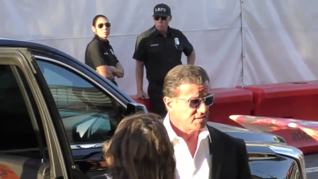 sylvester stallone arriving to the guardians of the galaxy 2 premiere at dolby theatre in hollywood in celebrity sightings in los angeles, - the dolby theatre stock videos & royalty-free footage