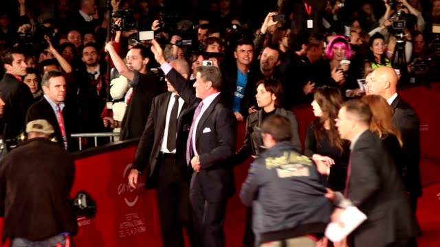 sylvester stallone at 'bullets to the head' premiere: 7th rome film festival at auditorium parco della musica on november 14, 2012 in rome, italy - rome film festival stock videos & royalty-free footage