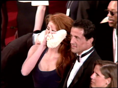 sylvester stallone at the 1995 academy awards arrivals at the shrine auditorium in los angeles, california on march 27, 1995. - 67th annual academy awards stock videos & royalty-free footage