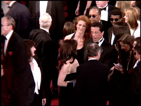 sylvester stallone at the 1995 academy awards arrivals at the shrine auditorium in los angeles, california on march 27, 1995. - shrine auditorium stock videos & royalty-free footage