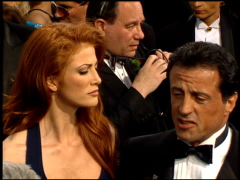sylvester stallone at the 1995 academy awards arrivals at the shrine auditorium in los angeles california on march 27 1995 - 67th annual academy awards stock videos & royalty-free footage