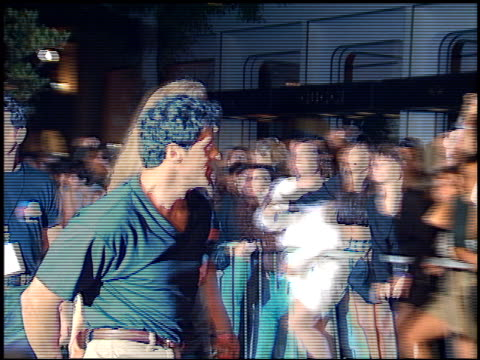 Sylvester Stallone at the Planet Hollywood entrances on September 17 1995