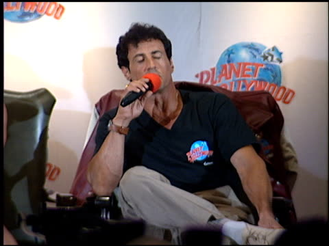 Sylvester Stallone at the Planet Hollywood Press Conf and entrances on September 17 1995