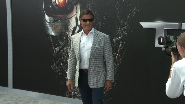 Sylvester Stallone at the Premiere Of Paramount Pictures' Terminator Genisys at Dolby Theatre on June 28 2015 in Hollywood California