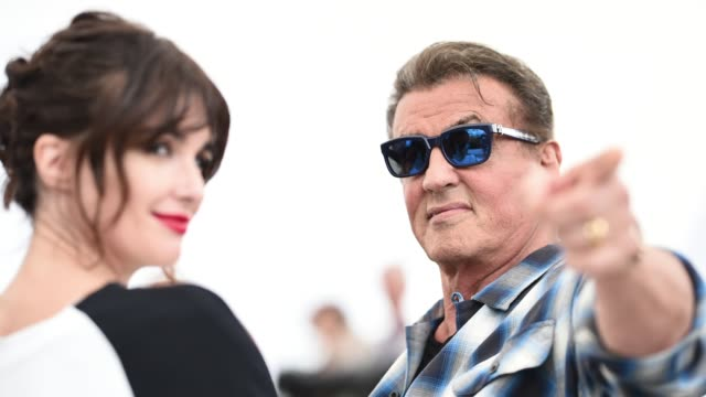 GIF Sylvester Stallone attends the photocall for Sylvester Stallone Rambo V Last Blood during the 72nd annual Cannes Film Festival on May 24 2019 in...