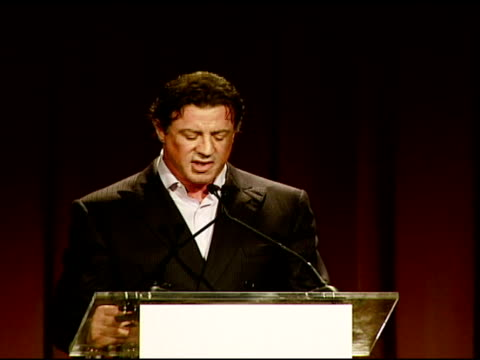 stockvideo's en b-roll-footage met sylvester stallone on mgm chairman and ceo harry sloan at the los angeles team mentoring 9th annual summer soiree at null in los angeles, california... - voorzitter