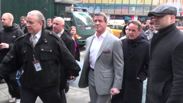 sylvester stallone outside the vh1 studio sylvester stallone outside the vh1 studio on january 29 2013 in new york new york - vh1 stock videos & royalty-free footage