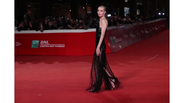 gif sylvia hoeks walks the red carpet ahead of the 'the girl in the spider's web' screening during the 13th rome film fest at gif rome film fest 2018... - rome film fest stock videos and b-roll footage