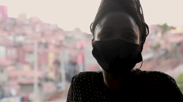 sylvie mutieme a 37year old congolese refugee during an interview in which she talks about her experience of receiving online medical attention using... - doutor stock videos & royalty-free footage