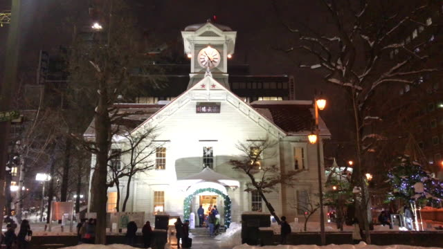 A symbolic clock tower in Sapporo
