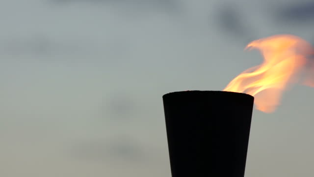 symbolic flame - flaming torch stock videos & royalty-free footage