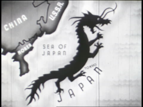 symbols of the axis powers are superimposed over maps of their countries. - axis powers stock videos & royalty-free footage