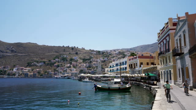 symi life - greek islands stock videos and b-roll footage