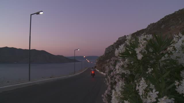 Symi Town   Main road at dusk