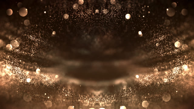 symmetric particles background (gold colored) - loop - gold medalist stock videos & royalty-free footage