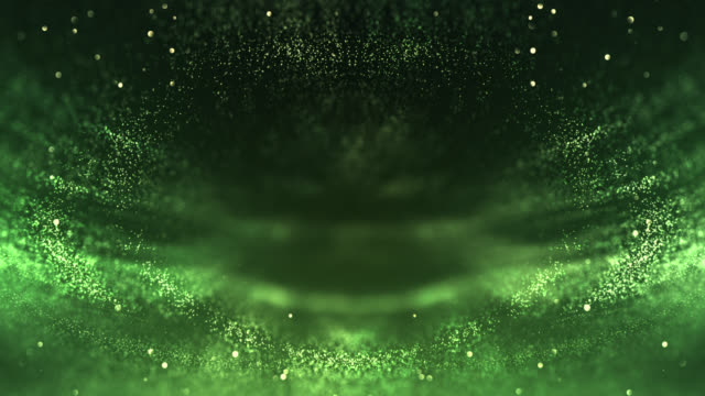 symmetric particles background (green) - loop - green colour stock videos & royalty-free footage