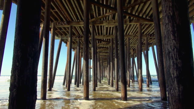 Symmetrical View Beneath the Pismo Pier Beach