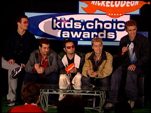 'N Sync at the 1999 Nickelodeon Kids' Choice Awards at UCLA in Westwood California on May 1 1999