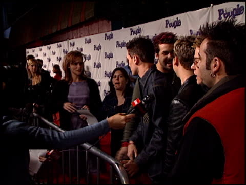 'n sync justin timberlake lance bass joey fatone jc chasez and chris kirkpatrick at the teen people magazine party at vynyl in hollywood california... - jc chasez stock videos & royalty-free footage