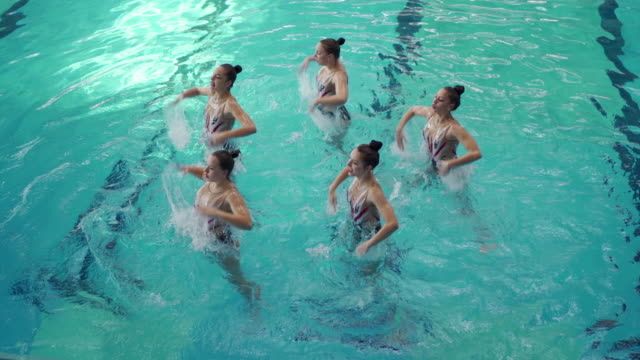 synchronized swimming - swimming costume stock videos & royalty-free footage