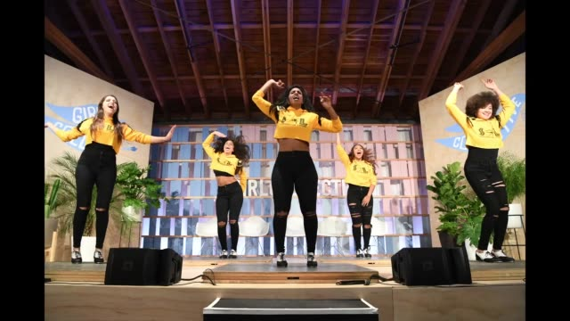 Syncopated Ladies perform during Dove's Launch of Girl Collective The First Ever Dove SelfEsteem Project MegaEvent on October 6 2018 in Los Angeles...