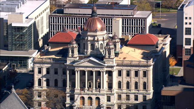 syracuse - aerial view - new york,  onondaga county,  united states - syracuse stock videos & royalty-free footage
