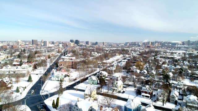 syracuse, ny winter skyline - syracuse stock videos & royalty-free footage