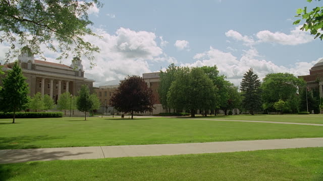 vídeos de stock e filmes b-roll de ws syracuse university campus, syracuse, new york state, usa - campus