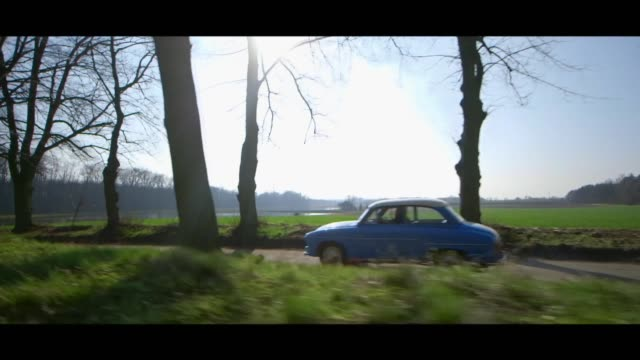 syrena 102 on road - matte stock videos & royalty-free footage