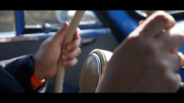 syrena 102 - steering wheel - matte stock videos & royalty-free footage