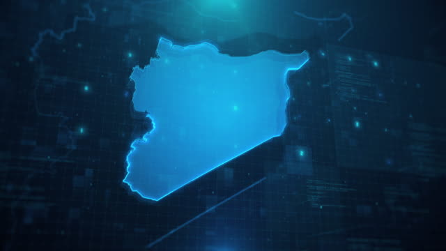 syria against blue animated background 4k uhd - westernisation stock videos & royalty-free footage
