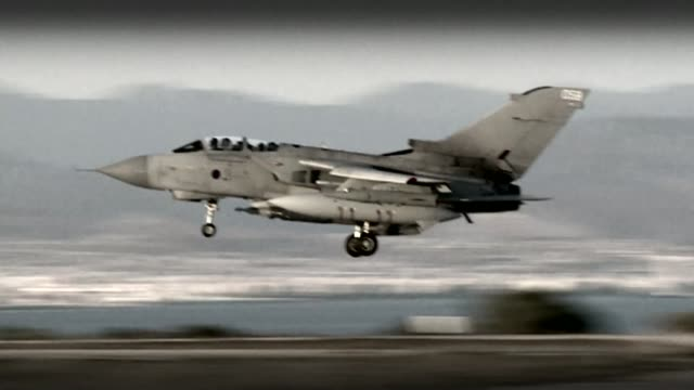Jeremy Corbyn undecided on free vote for Labour MPs T23101527 / Akrotiri EXT RAF Tornado aircraft landing AIR TO AIR RAF Tornado aircraft in flight