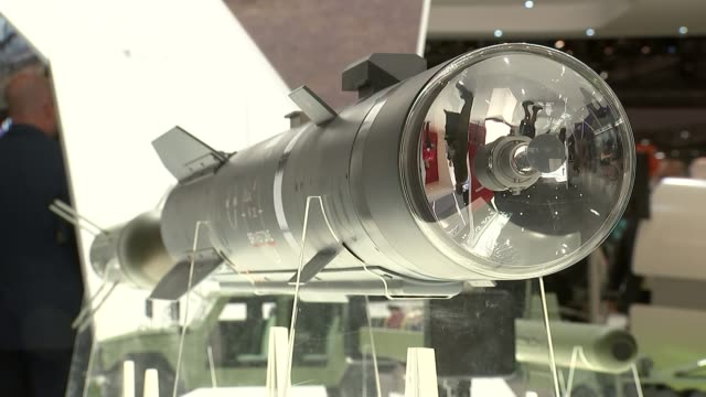 Labour MPs to get free vote R15091501 / ExCel Centre INT Brimstone missile on exhibition stall of the AngloEuropean missile manufacturer MBDA 'Dual...