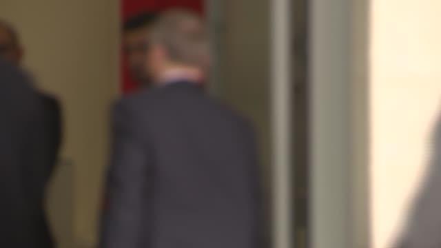 boris johnson and jeremy corbyn bbc arrivals england london bbc broadcasting house ext boris johnson arrival at broadcasting house for 'the andrew... - seumas milne stock videos & royalty-free footage