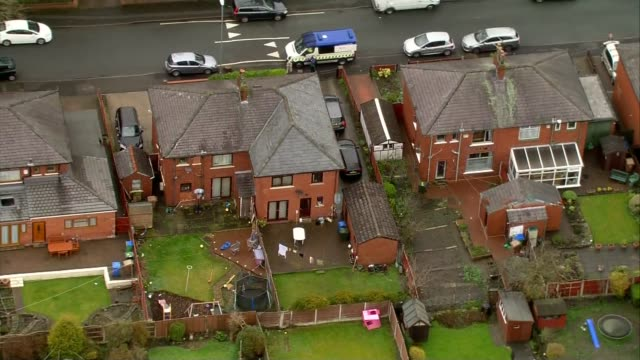 air views rochdale homes of suspects england lancashire rochdale views / aerials rochdale including the home of labour councillor shakil ahmed with... - rochdale england stock videos & royalty-free footage