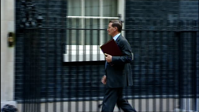 downing street arrivals for national security council meeting england london downing street ext unidentified arrivals/ justine greening mp along and... - dominic grieve stock videos and b-roll footage