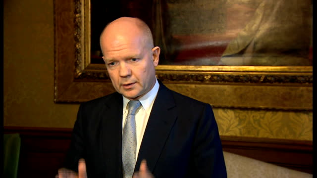 united nations reveals evidence of chemical weapons use in syria england london william hague mp press conference sot we've always believed that this... - will.i.am stock videos and b-roll footage