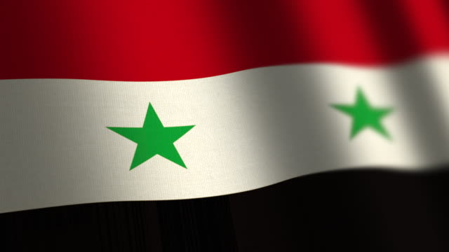Syria flag - loop. 4K.