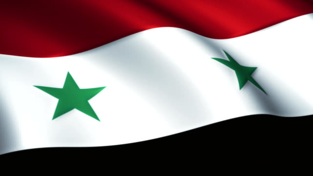 Syria Flag Waving Loopable