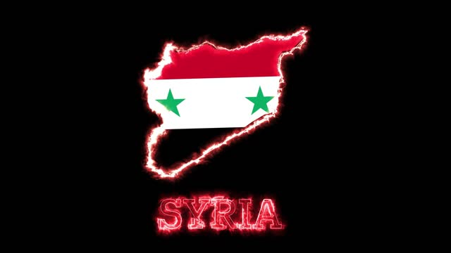 syria map among flames - continent geographic area stock videos & royalty-free footage