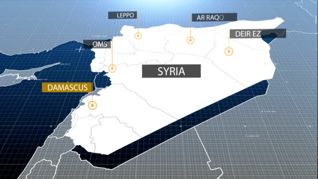 syria map - syria stock videos & royalty-free footage