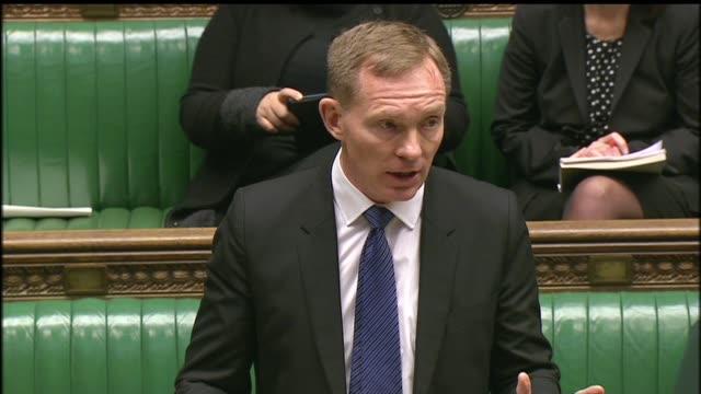 police probe death threats against labour mps westminster house of commons int chris bryant mp speaking at dispatch box sot sadly some of the abuse i... - britisches unterhaus stock-videos und b-roll-filmmaterial