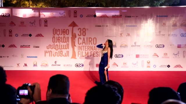 vídeos de stock e filmes b-roll de syrian actress wafaa salem jordanian actor eyad nassar egyptian actor ahmed shaker egyptian actresses mona mamdouh sama elmasry and egyptian actor... - atriz