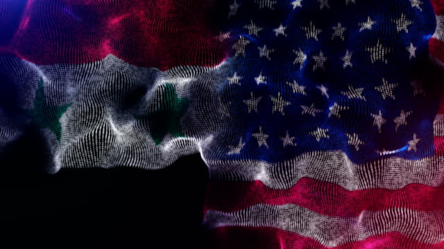 syrian and american flag - politics abstract stock videos & royalty-free footage