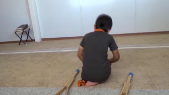 syrian child ahmed el-ahmar who lost his left leg during syrian civil war, performs in a short film that shooted in container city and win a prize in... - film container stock videos & royalty-free footage
