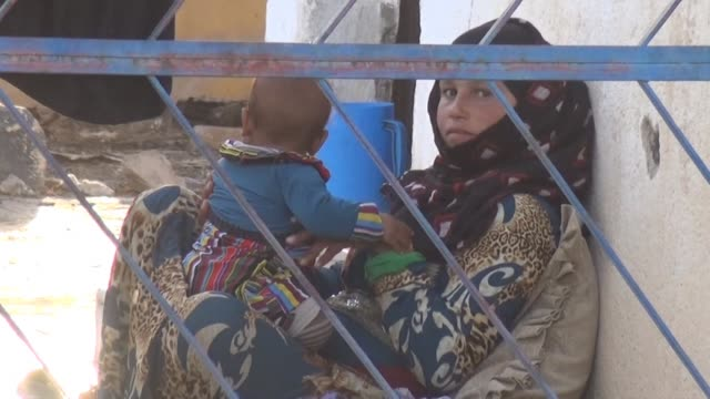 syrian families fled the violence in the northern raqa countryside on friday as the usbacked syrian democratic forces continued their advance on raqa - syrian democratic forces stock videos & royalty-free footage