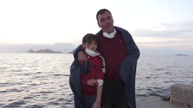 syrian father and young daughter attacked at sea by greek coastguards were treated in a turkish hospital in bodrum on march 03 2020 hasan and his... - human neck stock videos & royalty-free footage