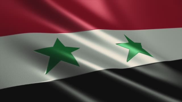 syrische flagge high detail - looping stock video - amerikanischer treueschwur stock-videos und b-roll-filmmaterial